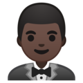 Man in Tuxedo: Dark Skin Tone on Google Android 9.0