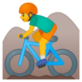Man Mountain Biking on Google Android 9.0