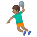 Man Playing Handball: Medium Skin Tone on Google Android 9.0