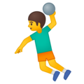Man Playing Handball on Google Android 9.0