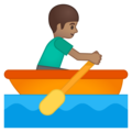 Man Rowing Boat: Medium Skin Tone on Google Android 9.0