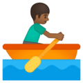 Man Rowing Boat: Medium-Dark Skin Tone on Google Android 9.0