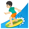 Man Surfing: Light Skin Tone on Google Android 9.0