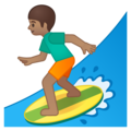 Man Surfing: Medium Skin Tone on Google Android 9.0