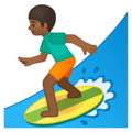 Man Surfing: Medium-Dark Skin Tone on Google Android 9.0