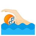 Man Swimming: Light Skin Tone on Google Android 9.0