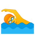 Man Swimming on Google Android 9.0