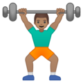 Man Lifting Weights: Medium Skin Tone on Google Android 9.0