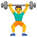 Man Lifting Weights on Google Android 9.0