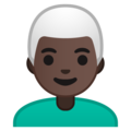 Man: Dark Skin Tone, White Hair on Google Android 9.0