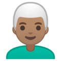 Man: Medium Skin Tone, White Hair on Google Android 9.0