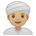 Person Wearing Turban: Medium-Light Skin Tone on Google Android 9.0