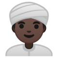 Person Wearing Turban: Dark Skin Tone on Google Android 9.0
