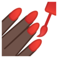 Nail Polish: Dark Skin Tone on Google Android 9.0