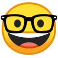 Nerd Face on Google Android 9.0
