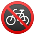 No Bicycles on Google Android 9.0