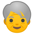 Older Person on Google Android 9.0