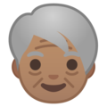 Older Person: Medium Skin Tone on Google Android 9.0