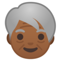 Older Person: Medium-Dark Skin Tone on Google Android 9.0
