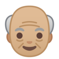 Old Man: Medium-Light Skin Tone on Google Android 9.0