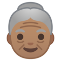 Old Woman: Medium Skin Tone on Google Android 9.0