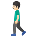Person Walking: Light Skin Tone on Google Android 9.0