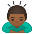 Person Bowing: Medium-Dark Skin Tone on Google Android 9.0