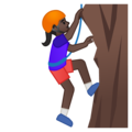 Person Climbing: Dark Skin Tone on Google Android 9.0