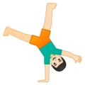 Person Cartwheeling: Light Skin Tone on Google Android 9.0