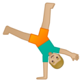 Person Cartwheeling: Medium-Light Skin Tone on Google Android 9.0