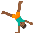 Person Cartwheeling: Medium-Dark Skin Tone on Google Android 9.0