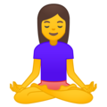 Person in Lotus Position on Google Android 9.0