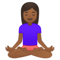 Person in Lotus Position: Medium-Dark Skin Tone on Google Android 9.0