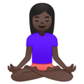 Person in Lotus Position: Dark Skin Tone on Google Android 9.0