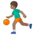 Person Bouncing Ball: Medium Skin Tone on Google Android 9.0