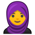 Woman With Headscarf on Google Android 9.0