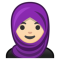 Person With Headscarf: Light Skin Tone on Google Android 9.0