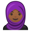 Woman With Headscarf: Medium-Dark Skin Tone on Google Android 9.0