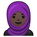 Woman With Headscarf: Dark Skin Tone on Google Android 9.0