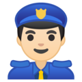 Police Officer: Light Skin Tone on Google Android 9.0