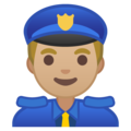 Police Officer: Medium-Light Skin Tone on Google Android 9.0