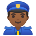 Police Officer: Medium-Dark Skin Tone on Google Android 9.0
