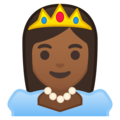 Princess: Medium-Dark Skin Tone on Google Android 9.0
