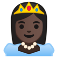 Princess: Dark Skin Tone on Google Android 9.0