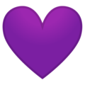 Purple Heart on Google Android 9.0