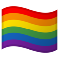 Rainbow Flag on Google Android 9.0