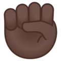 Raised Fist: Dark Skin Tone on Google Android 9.0
