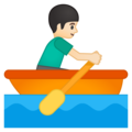 Person Rowing Boat: Light Skin Tone on Google Android 9.0