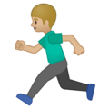 Person Running: Medium-Light Skin Tone on Google Android 9.0