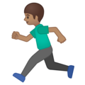 Person Running: Medium Skin Tone on Google Android 9.0